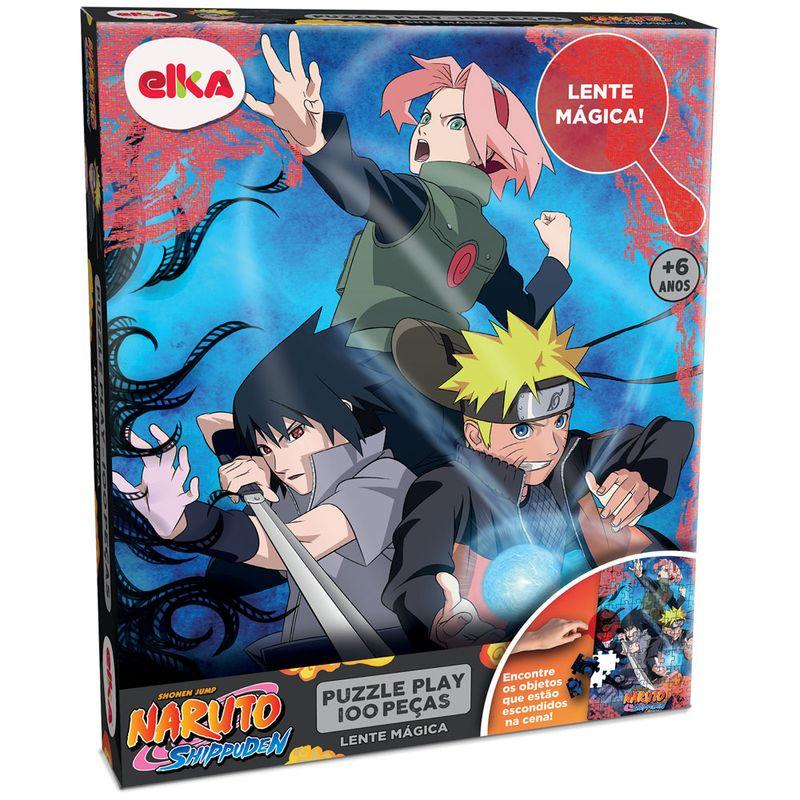 Puzzle-Play-100-pecas---Lente-Magica---Naruto-Shippuden