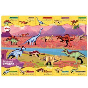 Puzzle Play Dinossauros 100 peças Lente Mágica - Manual do Mundo
